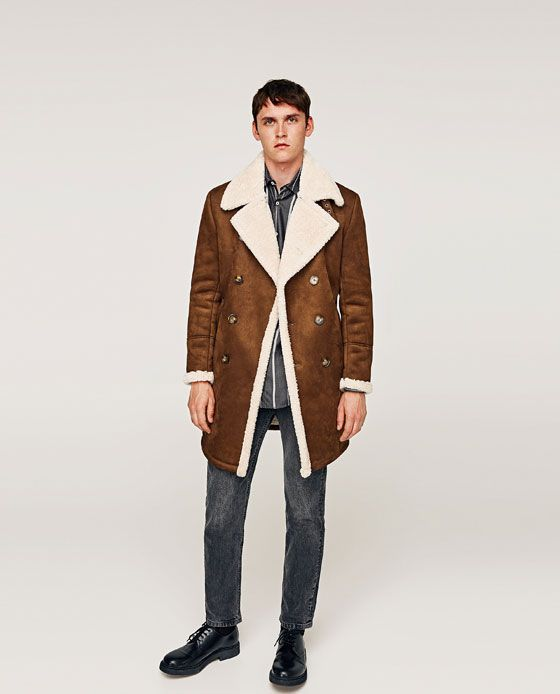8d9d634fc Imagen 1 de ABRIGO DOBLE FAZ de Zara | moda hombre | Gucci hombre ...