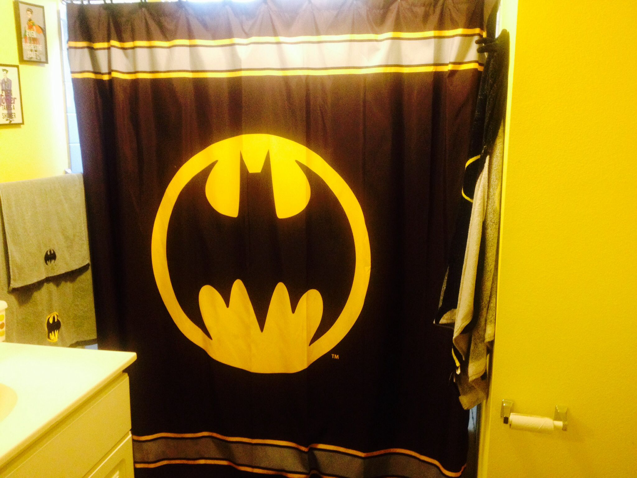 Batman Curtains From Target Batman Bathroom Decor Batman