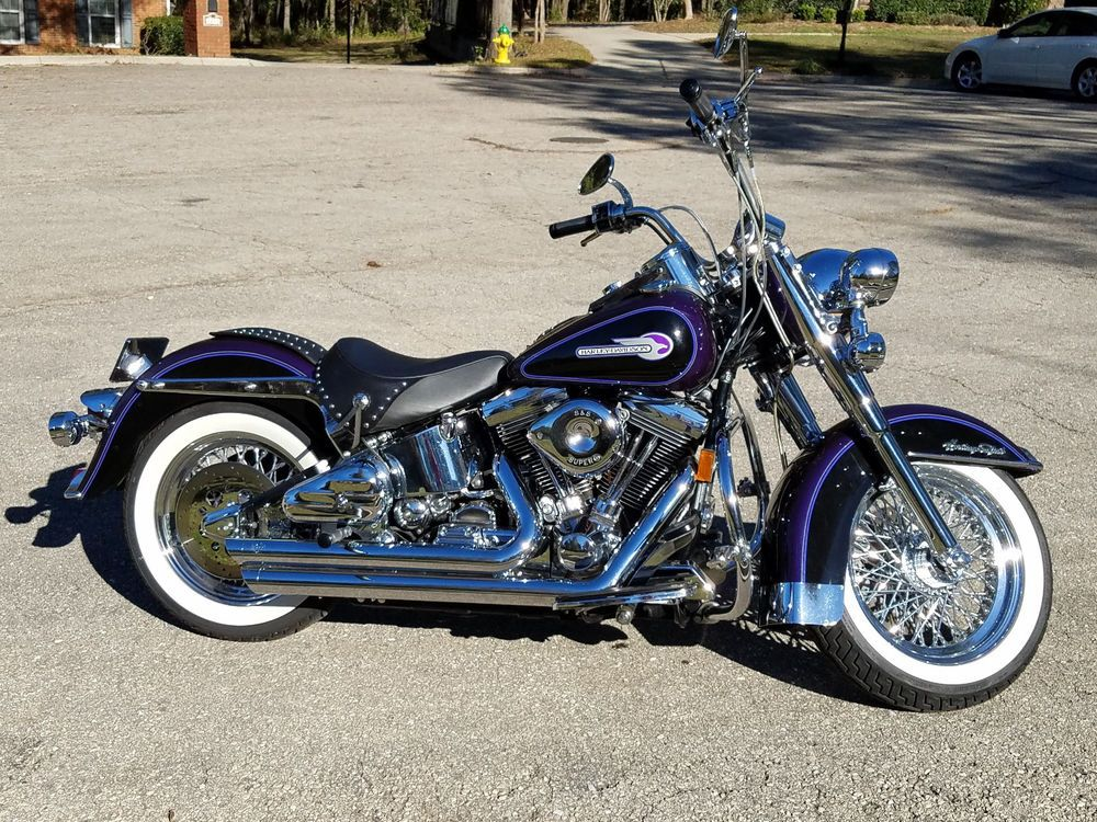 Ebay 1995 Harley Davidson Softail Very Rare 1995 Hd Heritage Classic Deep Violet Pearl Collector S Item Motorcycles Biker Harley Softail Super Bikes