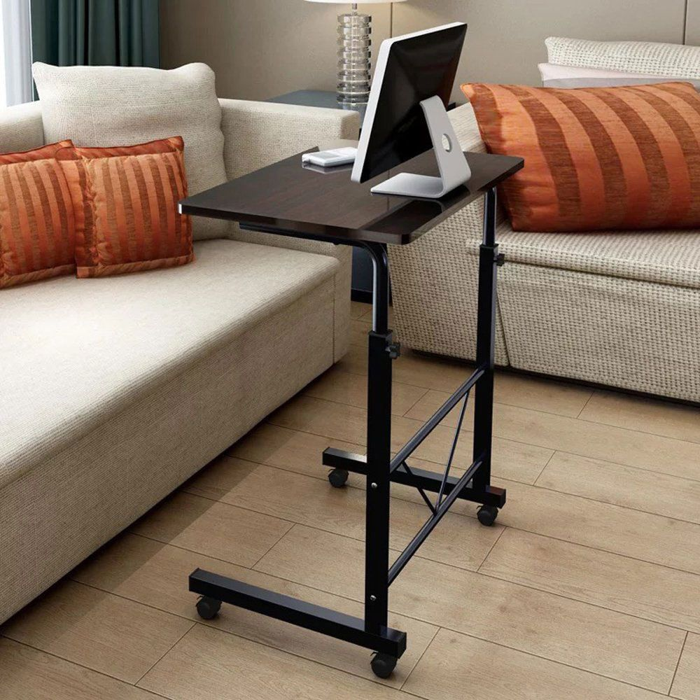 Protable Height Adjustable Laptop Table Stand Computer Desk Sofa Side Rolling Adjustable Laptop Table Adjustable Computer Desk Height Adjustable Computer Desk