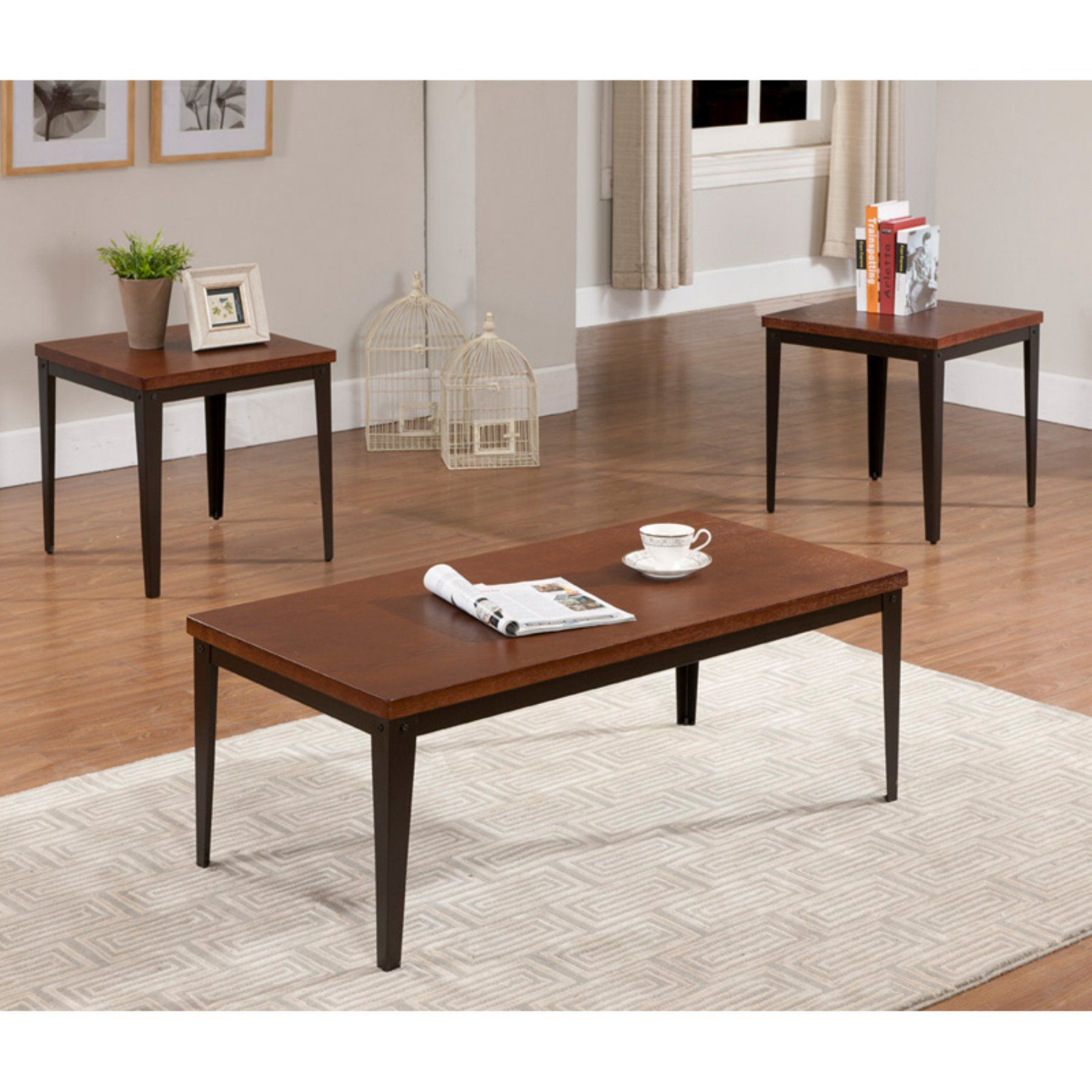 Best K B Furniture T88 3 Piece Cocktail And End Table Set 400 x 300