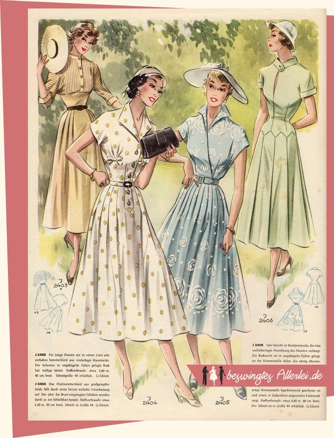 Modenschau Nr. 21 | Mode der 40er, Modenschau und 50er jahre