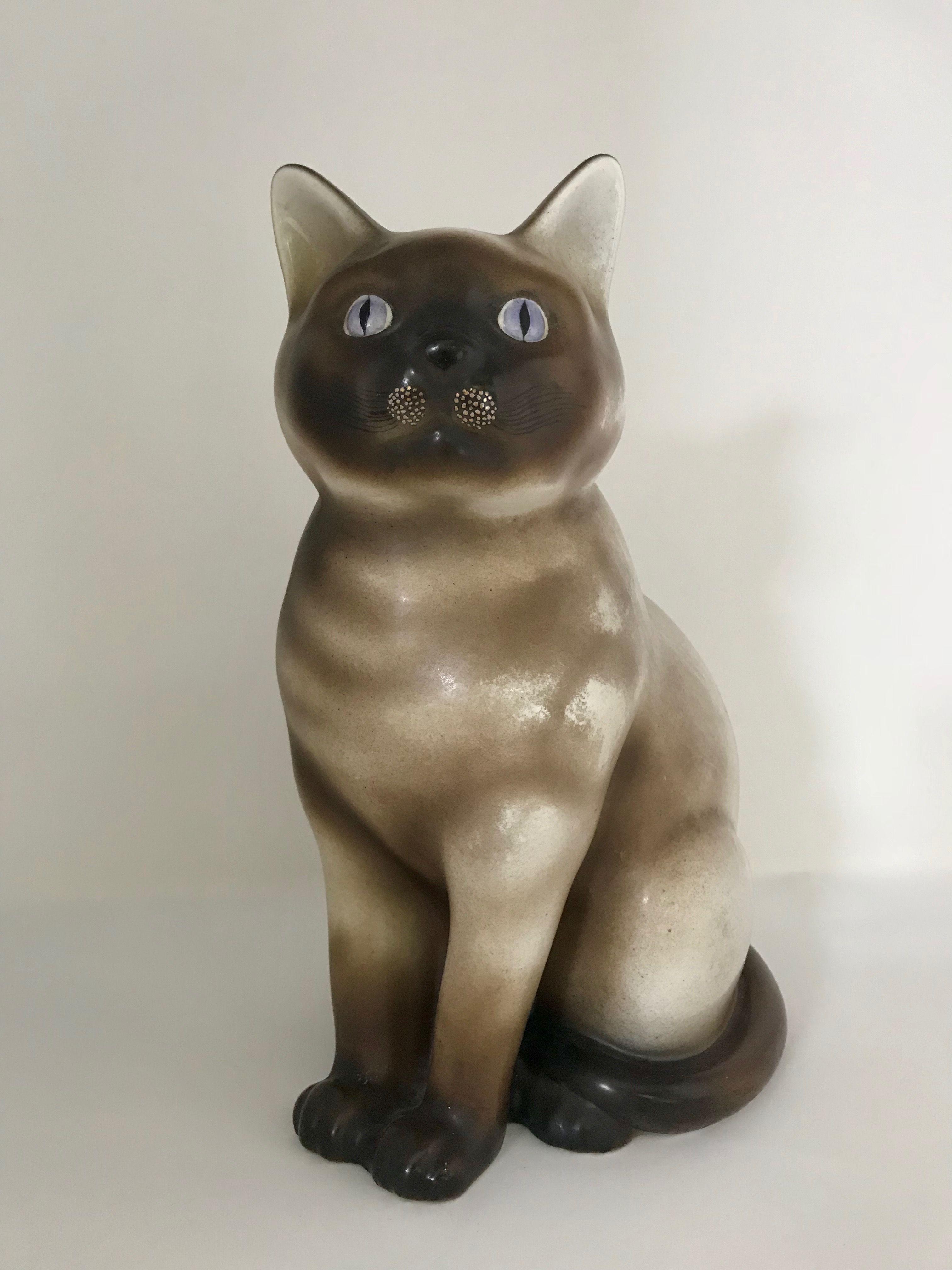 Piero Fornasetti Siamese Cat Ceramic Sculpture Signature Fornasetti Milano Trademark Below Italy Circa 1960 Bibliograp Art Art Decor Animals