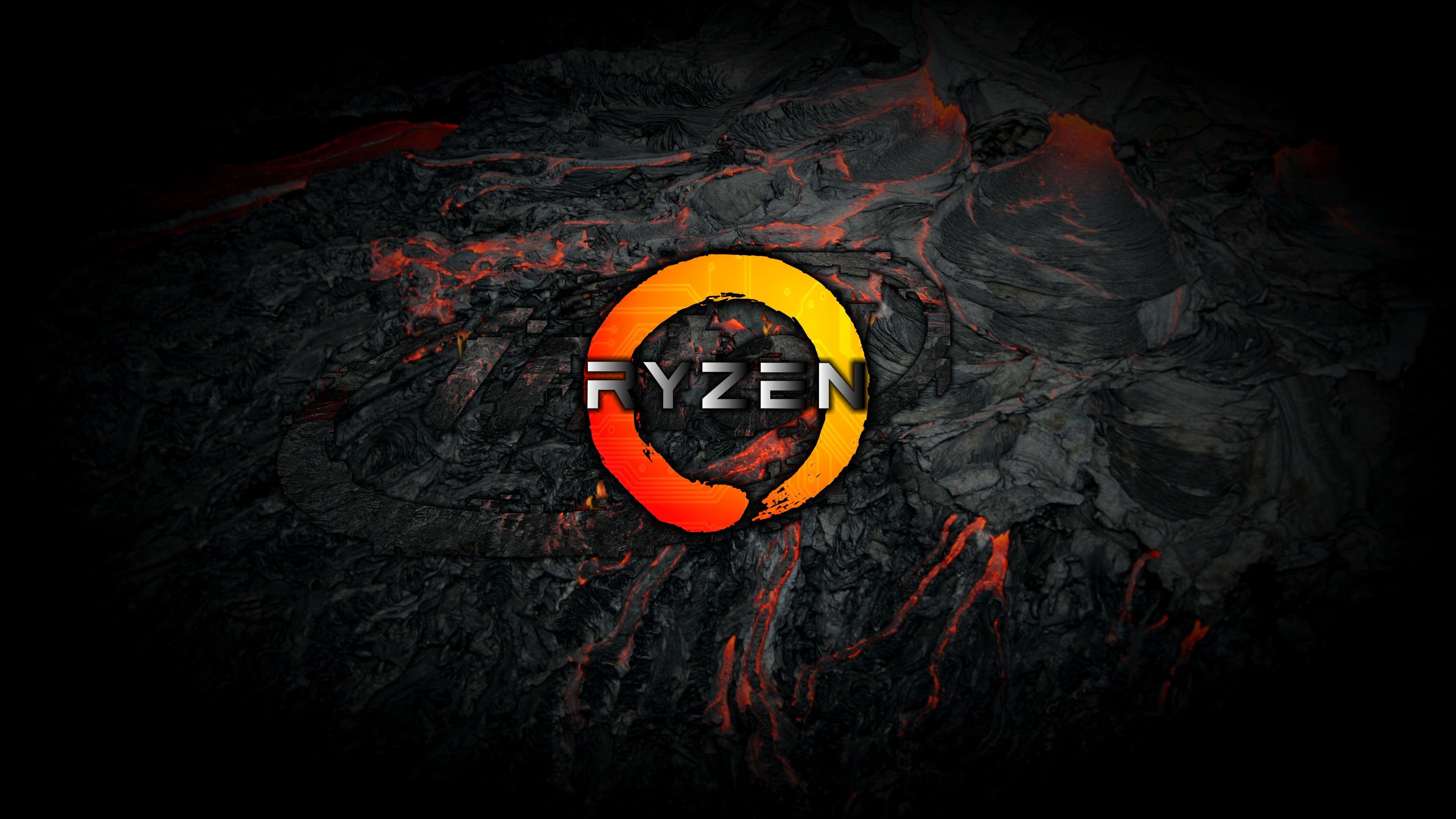 Technology AMD Ryzen AMD Logo 4K wallpaper