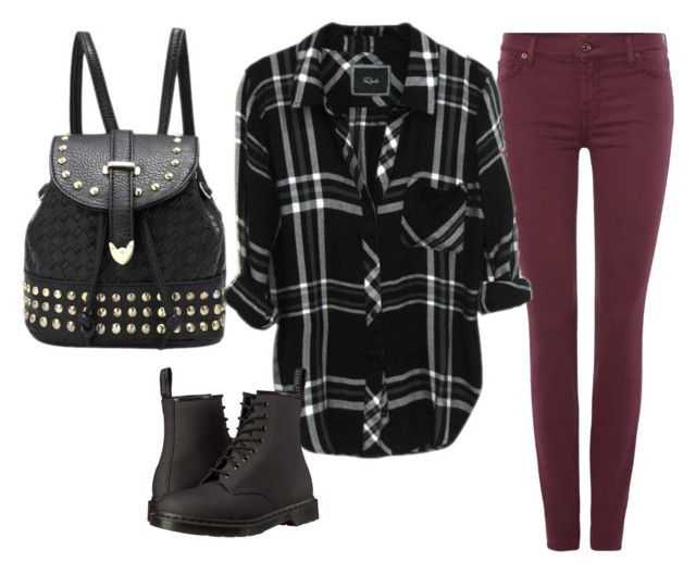 """""""Untitled #704"""" by lauraafreedom ❤ liked on Polyvore featuring 7 For All Mankind and Dr. Martens"""