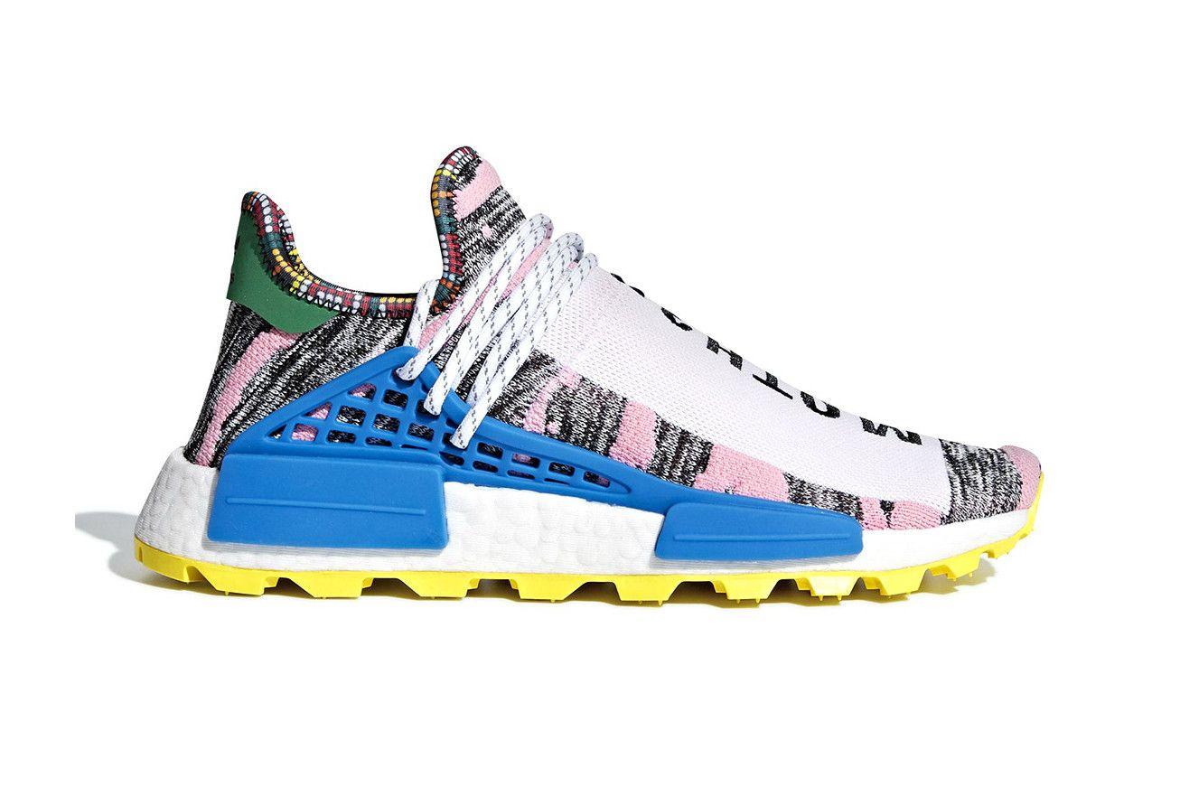new product 6393a 00125 Pharrell Williams adidas Originals NMD Hu Mothe3r Official Look