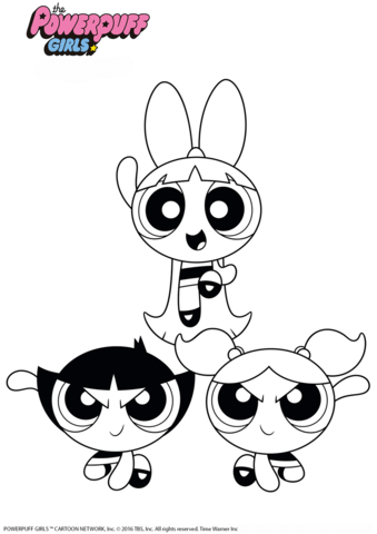 Powerpuff Girls Coloring Page Disney Character Drawings Cute Doodle Art Coloring Books