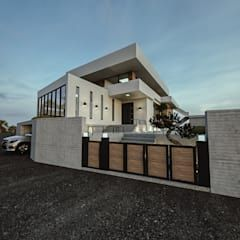 노후된 주택 리모델링 디자인-외부 파사드 디자인 이업 모던스타일 주택 솔리드 우드 화이트 | 호미파이 & h…