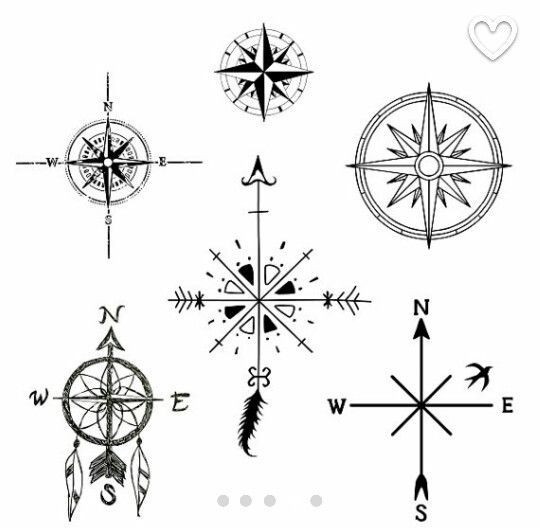 Compass Rose Nautical Vinyl Decal Kompass 9