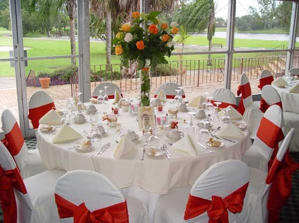 White Red Wedding Decorations