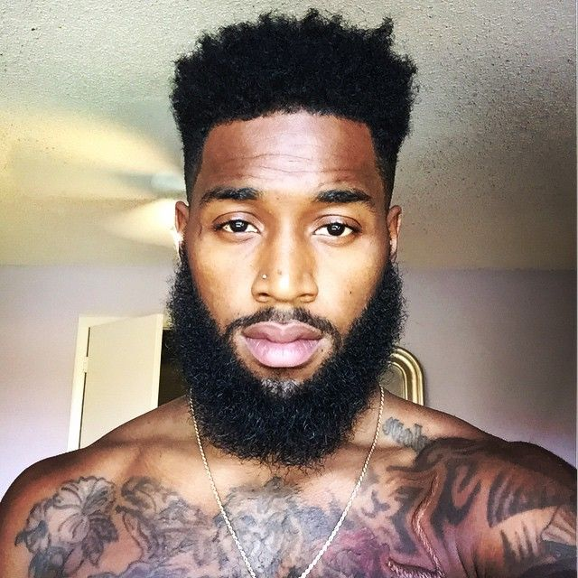 Beautiful black facial hair styles chin strap