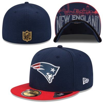 new arrival 1d028 33605 Men s New England Patriots New Era Navy Blue 2015 NFL Draft On-Stage 59FIFTY  Fitted Hat