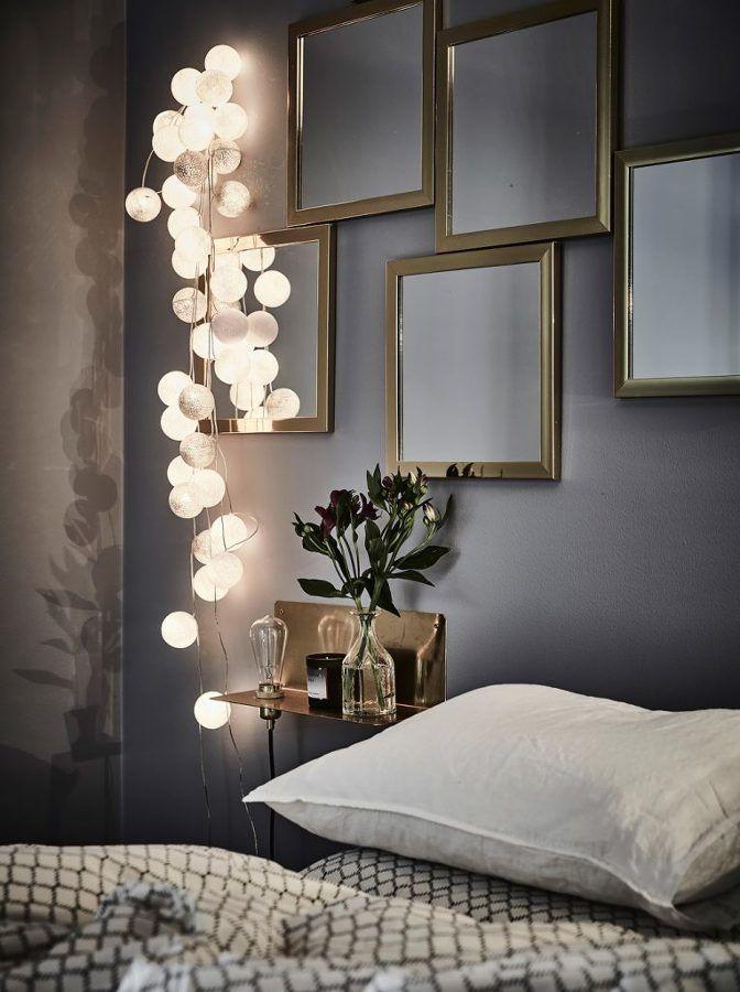 Decoración con espejos   Salón con sofá gris   Blanco, negro y mucho
