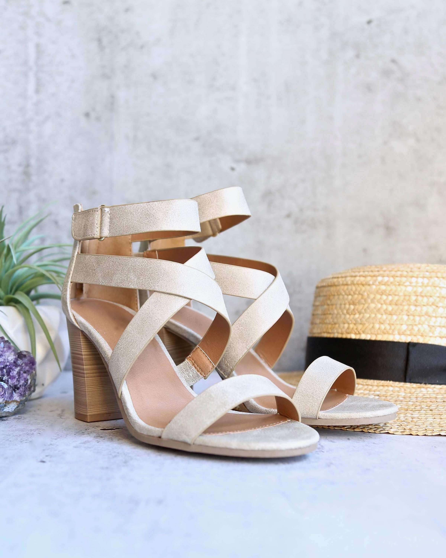 16aece9aa3 Lucite - vegan strappy block heel sandal -stone in 2019 | Heels ...