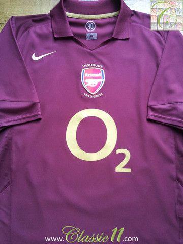 2005 06 Arsenal Home Football Shirt (XL) 1b41fcbeb6521