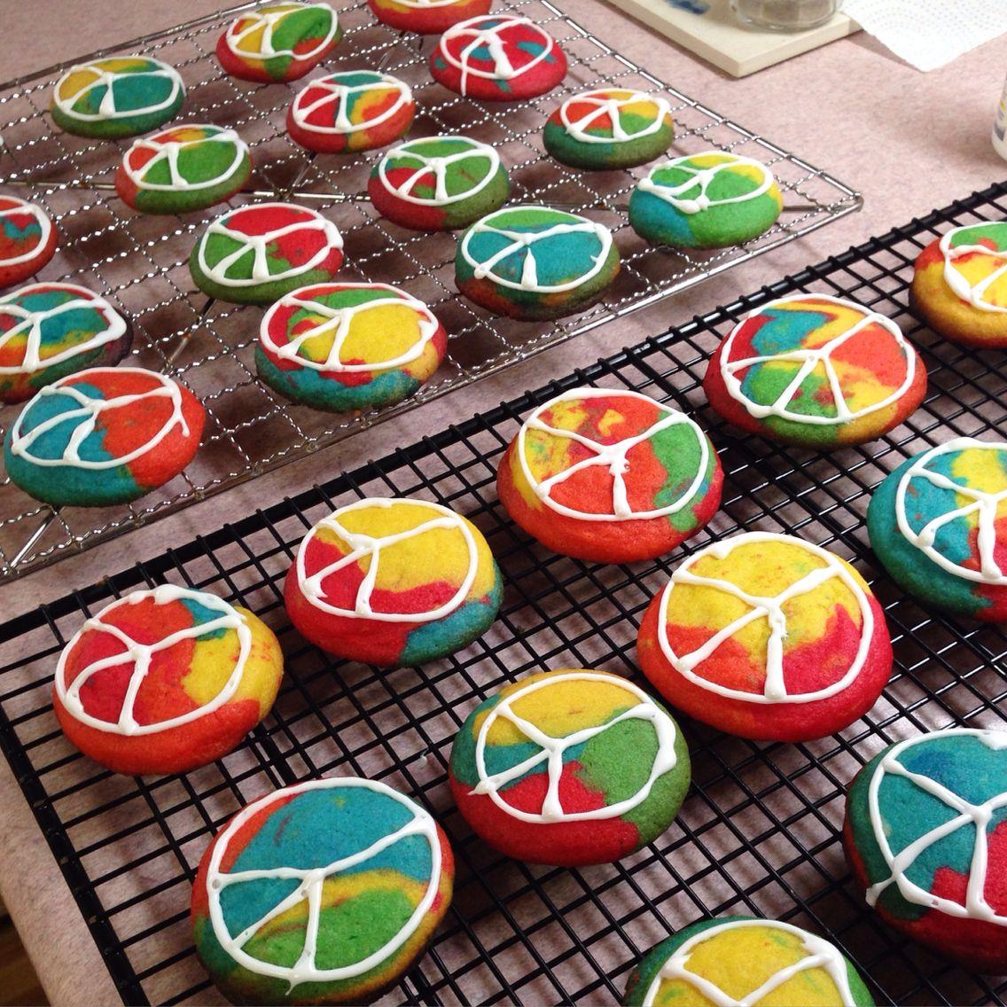 Peace sign, tie dye sugar cookies. - Betty Crocker Sugar ...