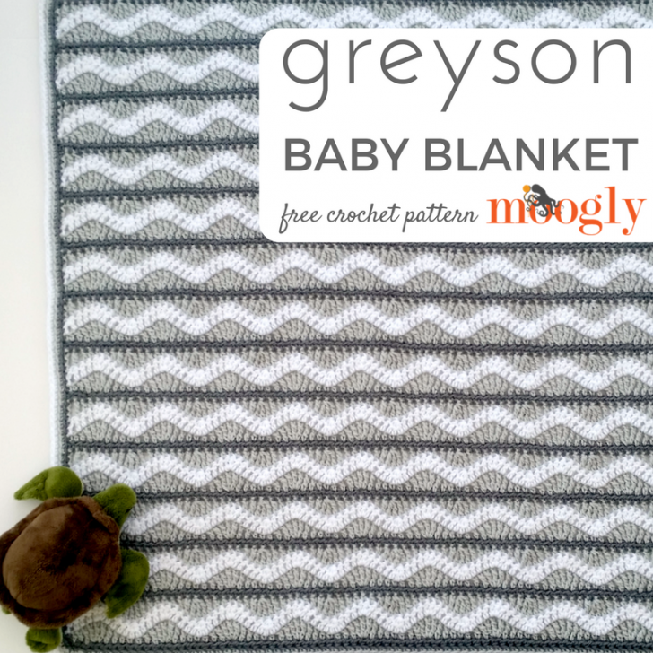 Greyson Baby Blanket - Free #Crochet Pattern on