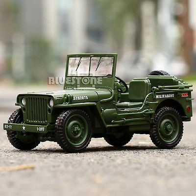 1 35 Scale Jeep Car Military Us Army Force Vehicle Well Made
