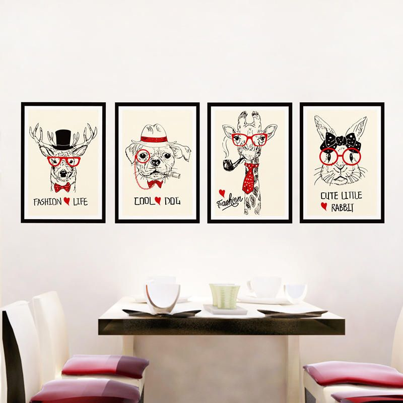us$4.99] photo picture frames stickers wall decor removable animal