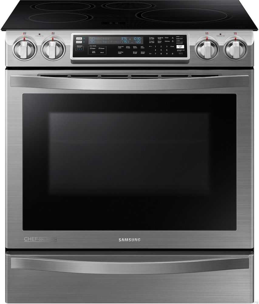 Samsung Slide-In Induction Chef Collection Range Flex Duo Oven ...