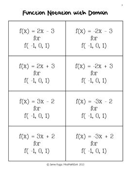 Function Match Up Matching Functions Graphs Mappings Tables And Notation Elementary Math Classroom Teaching Algebra Math Classroom