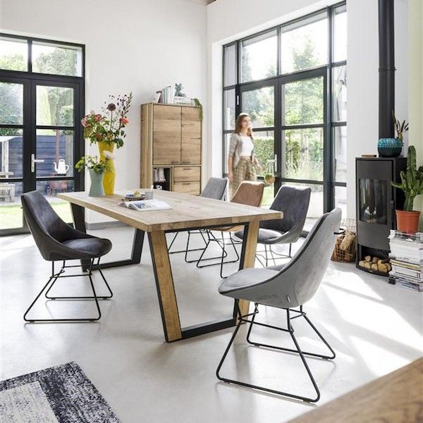 Chaise Aiden Xooon Chaise Avec Une Assise Confortable Et Ferme Chaise En Revetement Tetra Dote D Une Poignee Et De Pietement En Furniture Interior Home Decor