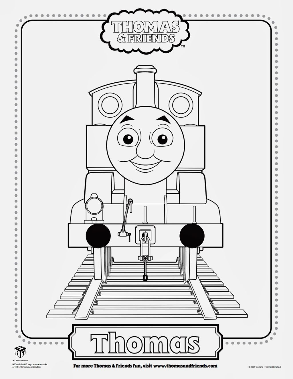 Thomas The Train Coloring Sheet | Coloring Pages | Pinterest | Kids ...