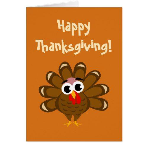 Happy Thanksgiving Funny Turkey Bird Illustration Card