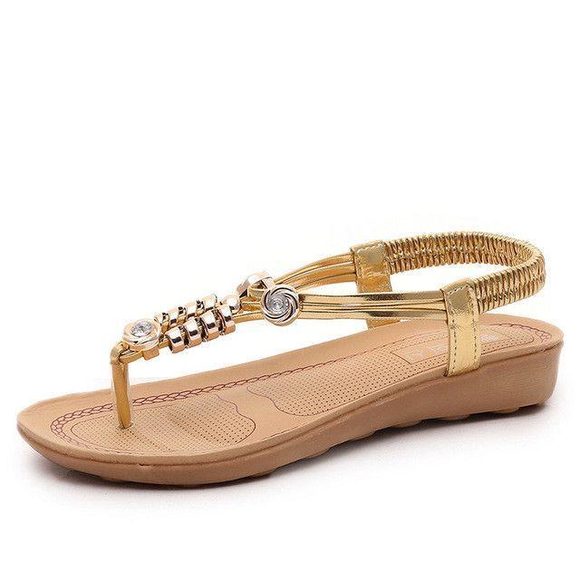db55934569576 New Summer Women Sandals ladies sandals charming Flip Flops native shoes  slippers women s footwear Golden shoes