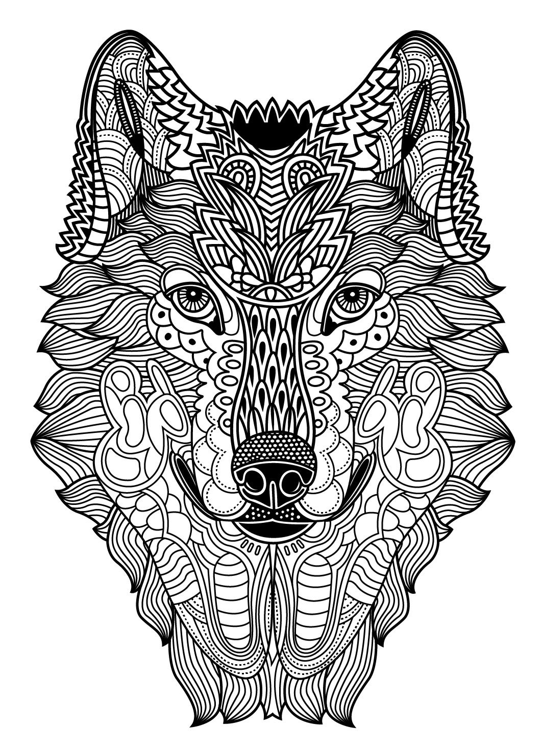 Wild Animals to color Colorish free coloring app for