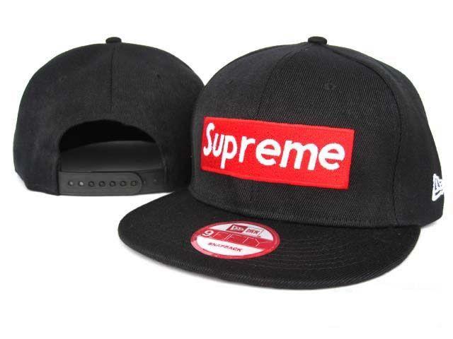 Supreme Snapback Classic Black Red Supreme Snapbacks Swag Hats Caps Lids Style Streetwear Black And Red Classic Black Snapback