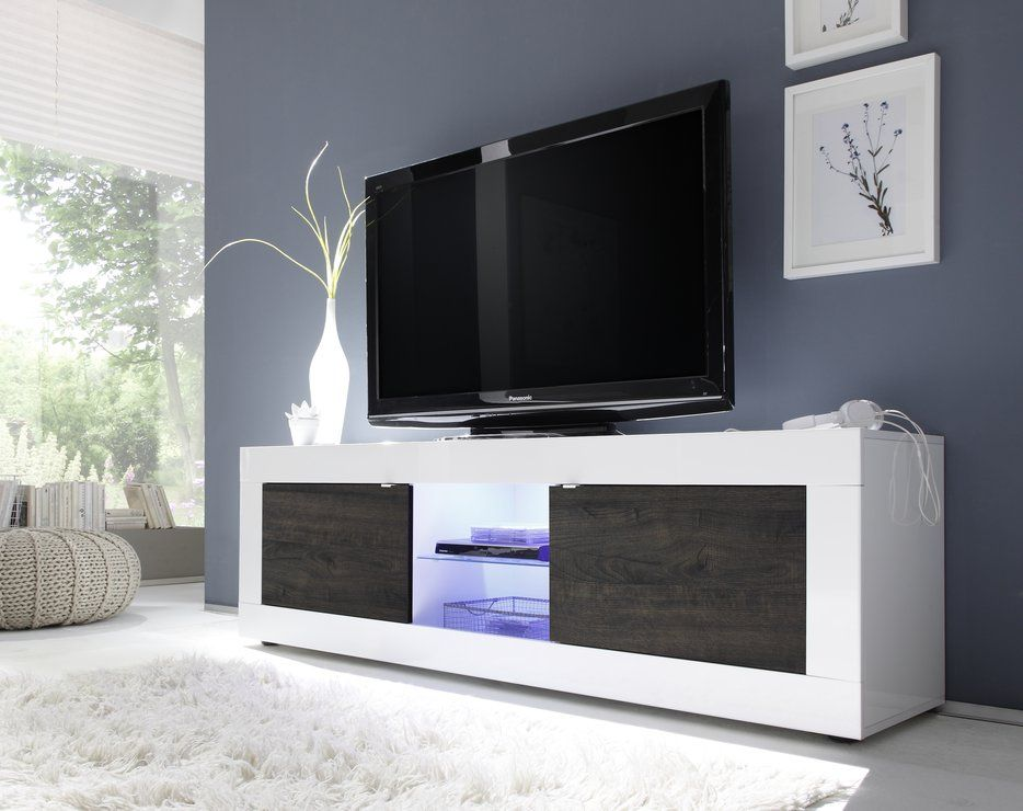 Urbino Collection Big TV Unit including Led Spot Light - Gloss - led spots wohnzimmer
