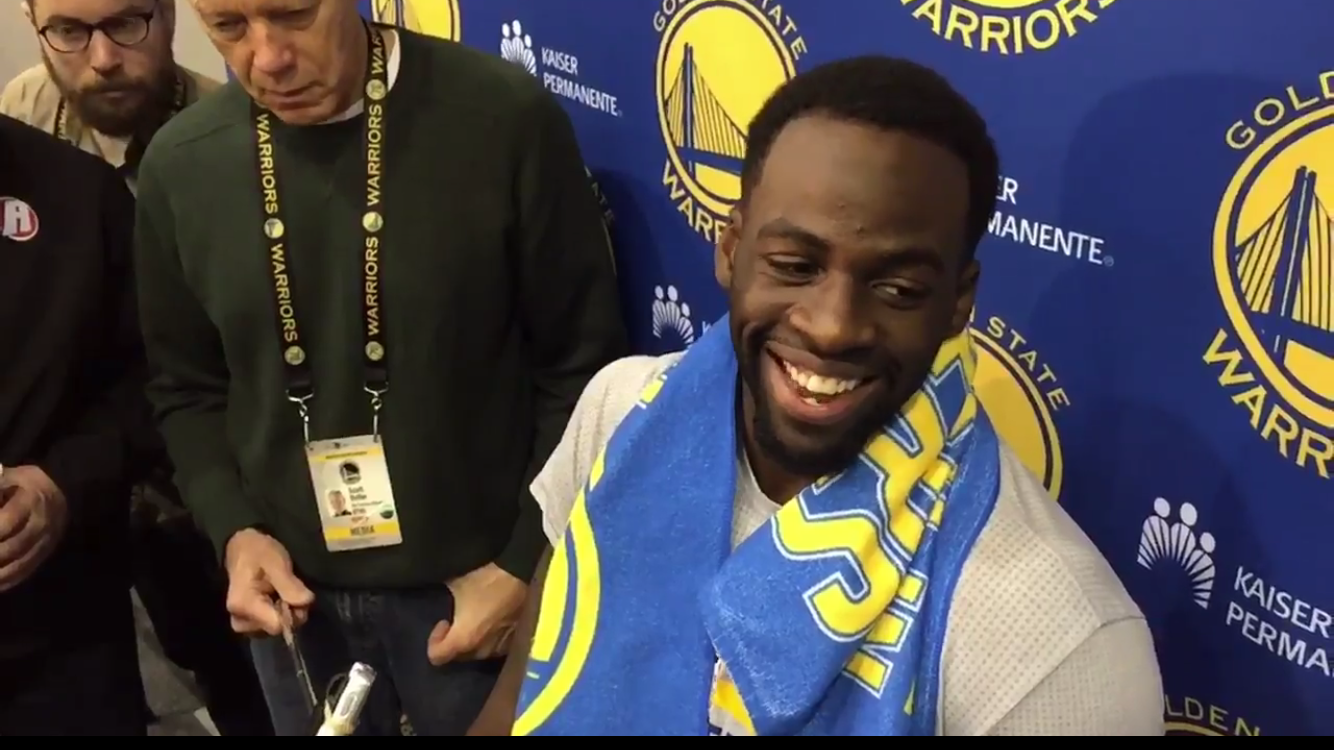 Stephen Curry and Draymond Green answer questions during a practice and press conference on Wednesday January 18.