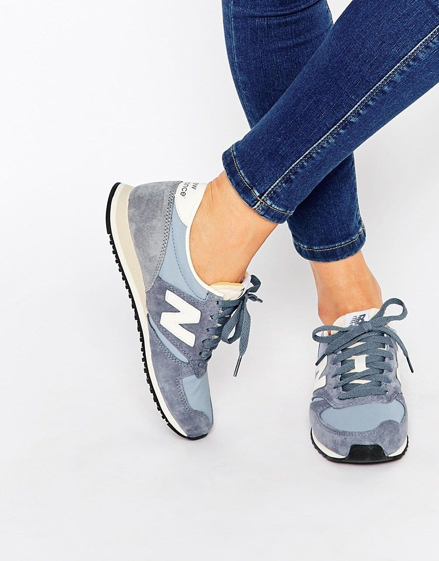 Image 1 of New Balance 420 Baby Blue Vintage Trainers ...