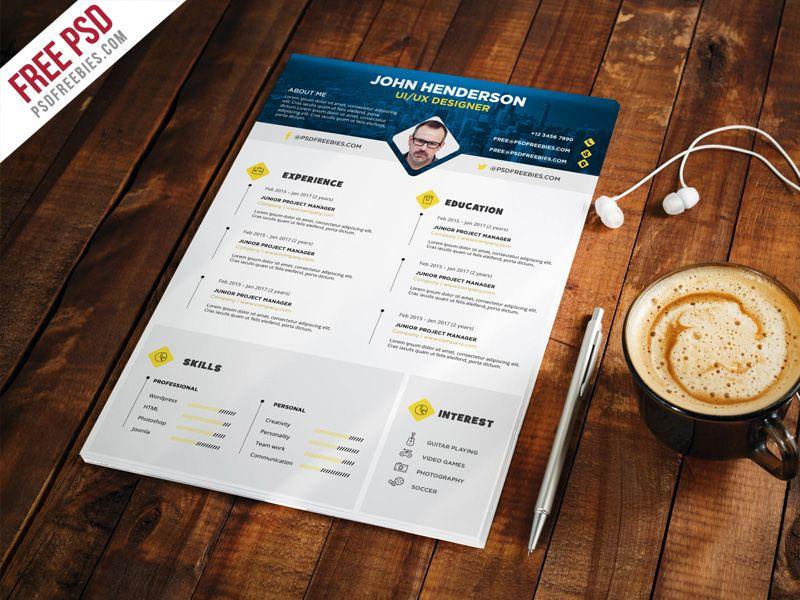 Professional Designer Resume Cv Template Psd Cv