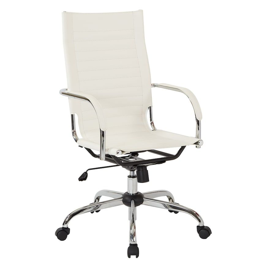 Desk Chair High Poly Banquet Covers Ave Six Modern Back Products Pinterest White