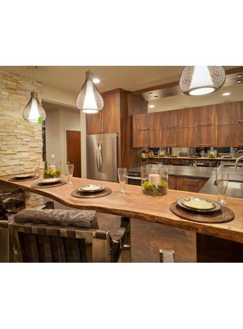 Top piano da cucina in legno massello, lavorato a mano dai nostri ...