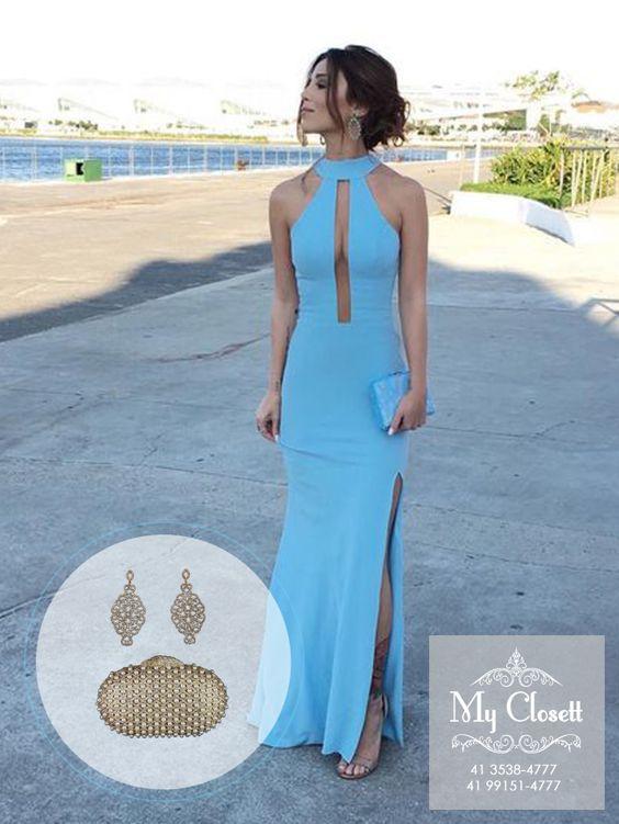 Vestido azul tiffany usado