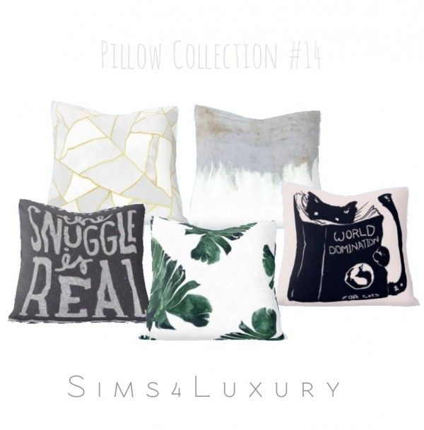 Sims4luxury pillow collection 4 • sims 4 downloads