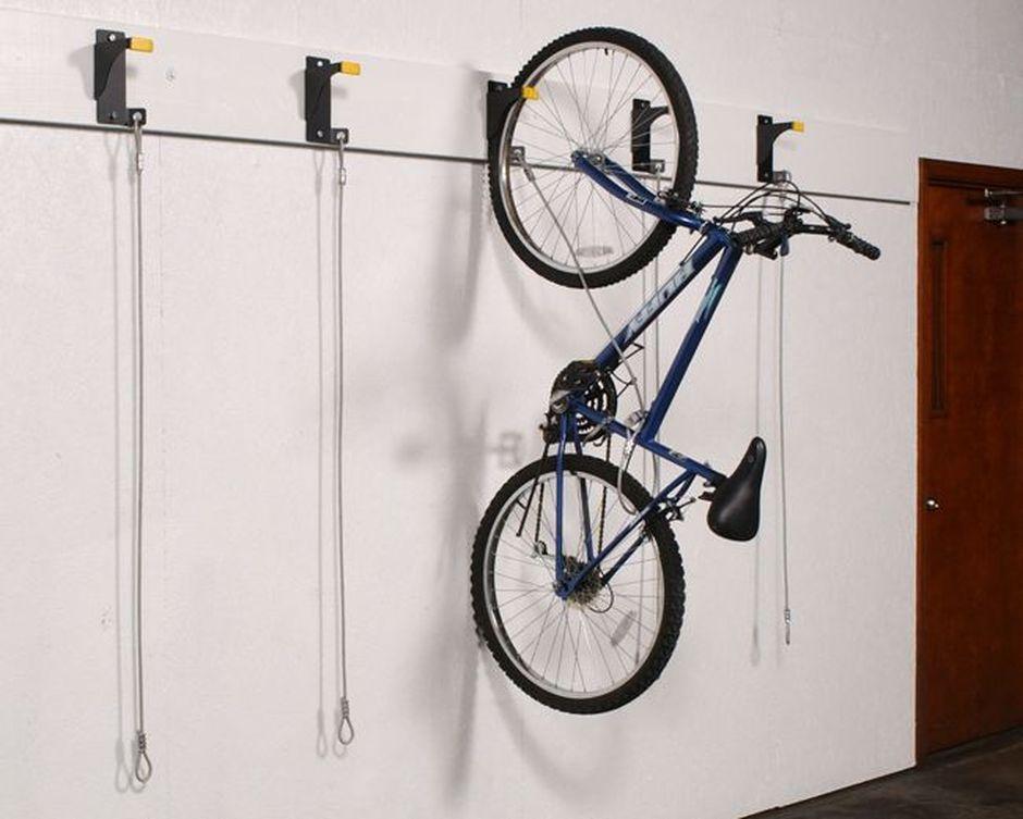 90 Awesome Ideas To Make Hanging Bike Rack And Storage Creative And Diy Ideas Bike Hanger Bike Storage Hooks Bike Storage Bracket
