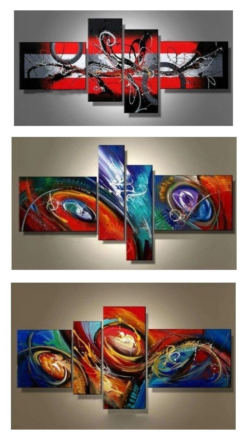 Abstract Artwork For Sale Black And Red Wall Art Framed Canvas Wall Art Sets Extra Large Painting In 2020 Canvas Wall Art Set Abstract Art Decor Living Room Canvas Painting #red #wall #art #for #living #room
