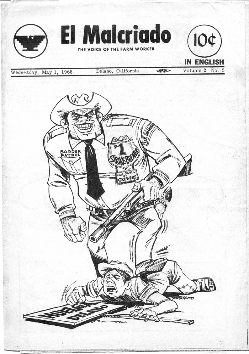 Cesar Chavez Political Cartoon