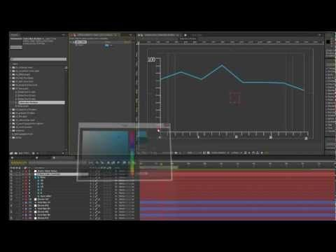 Infographics After Effects Template- Line Graph tutorial ...