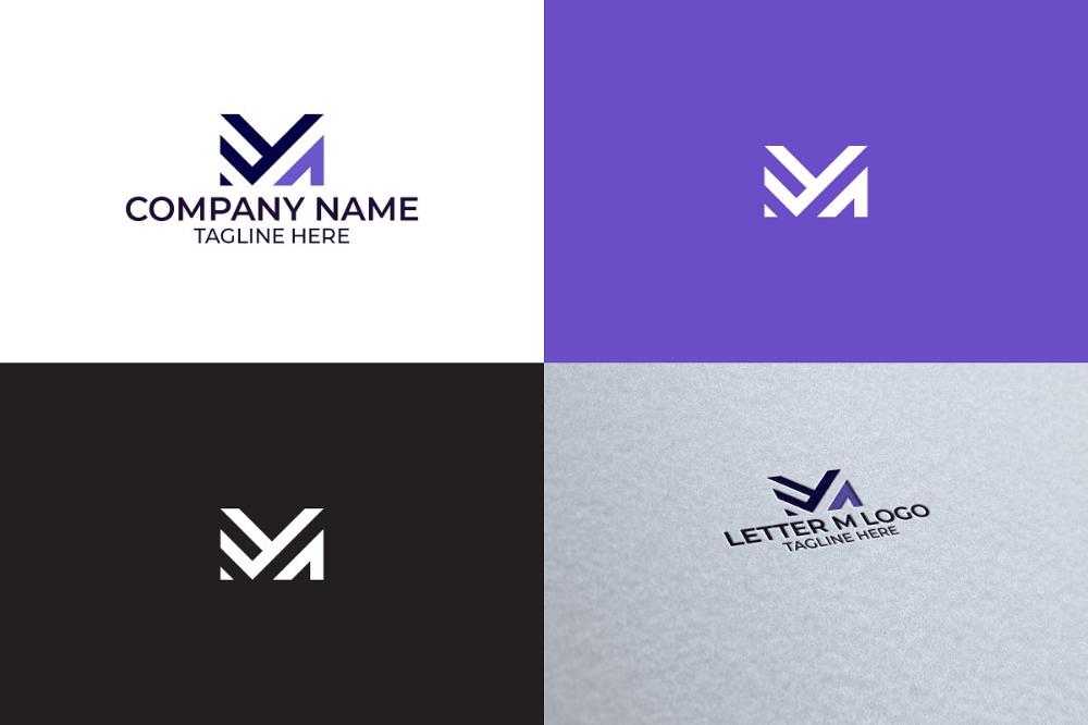 Letter M Logo Design Logo Design Lettering Letter M Logo