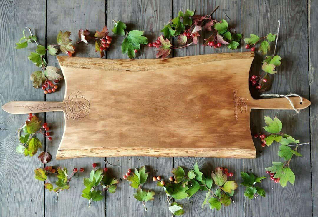 Duza Deska Do Serwowania Krojenia Sera Taca Handmade Naturalne