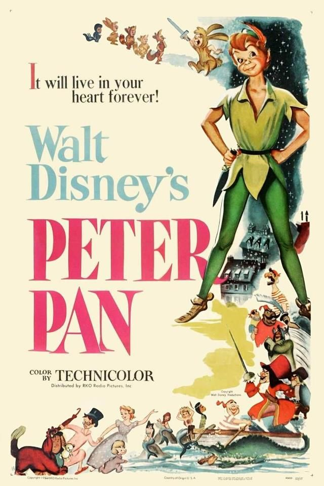 This Would Be In The Room Of Requirement Peter Pan 1953 Disney Movie Posters Walt Disney Animated Movies Vintage Disney Posters