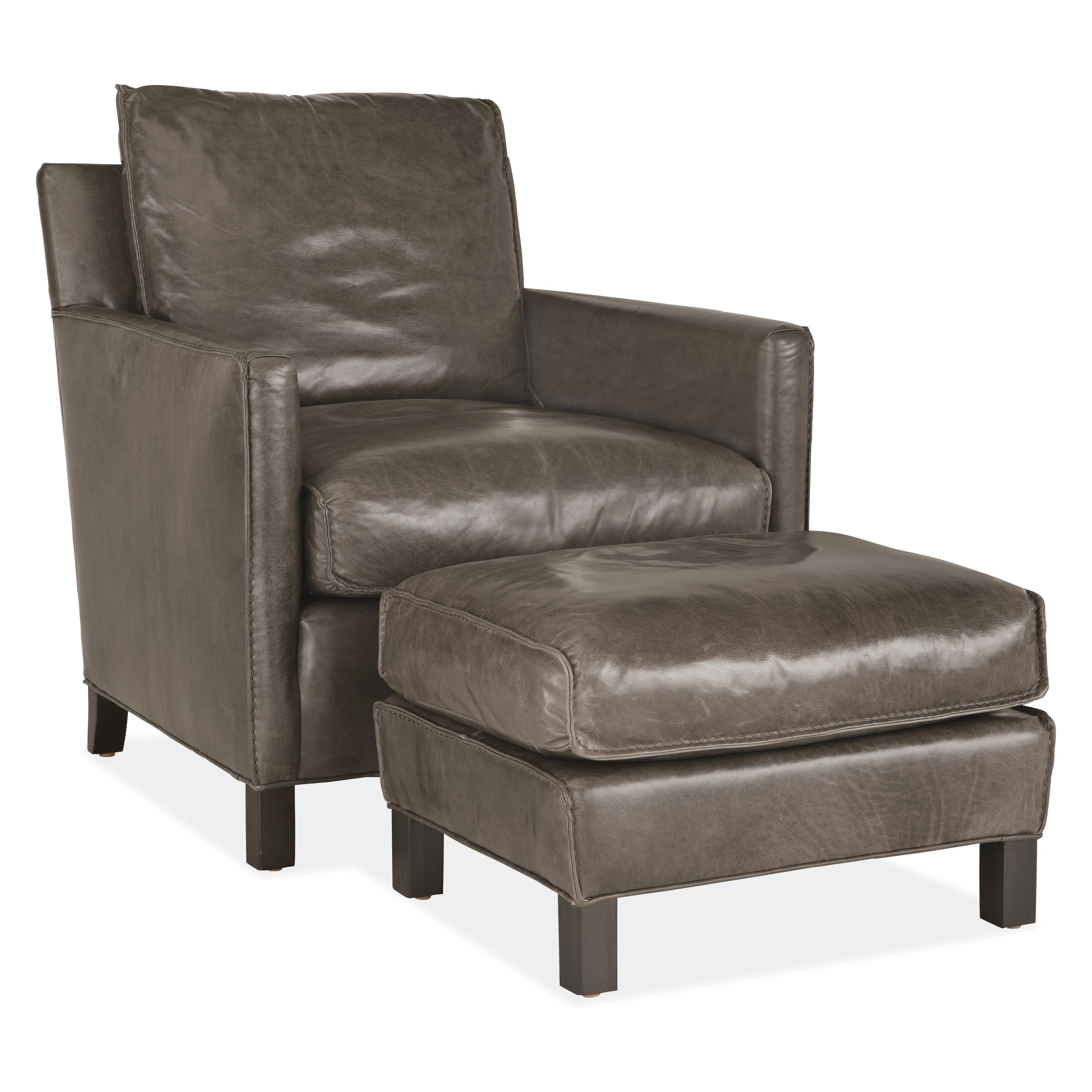 Stupendous Bram Leather Chair Ottoman Products Leather Ottoman Dailytribune Chair Design For Home Dailytribuneorg