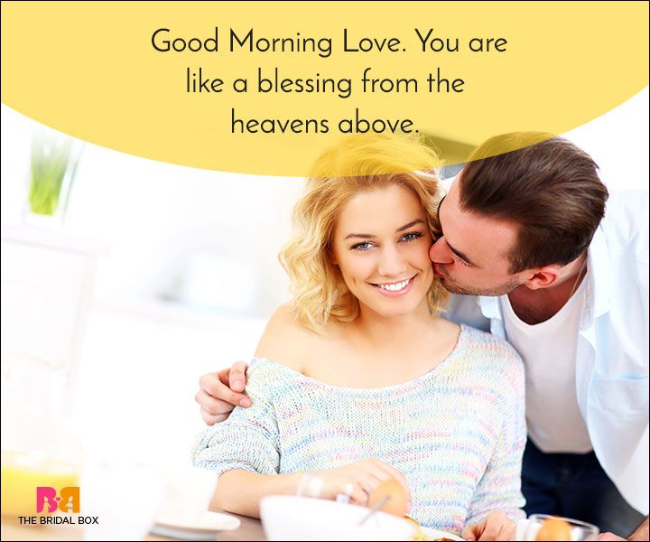 Good Morning Love Quotes - A Blessing From The Heavens