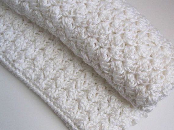 Chunky Reversible Crochet Baby Blanket By 12charlotte On Etsy