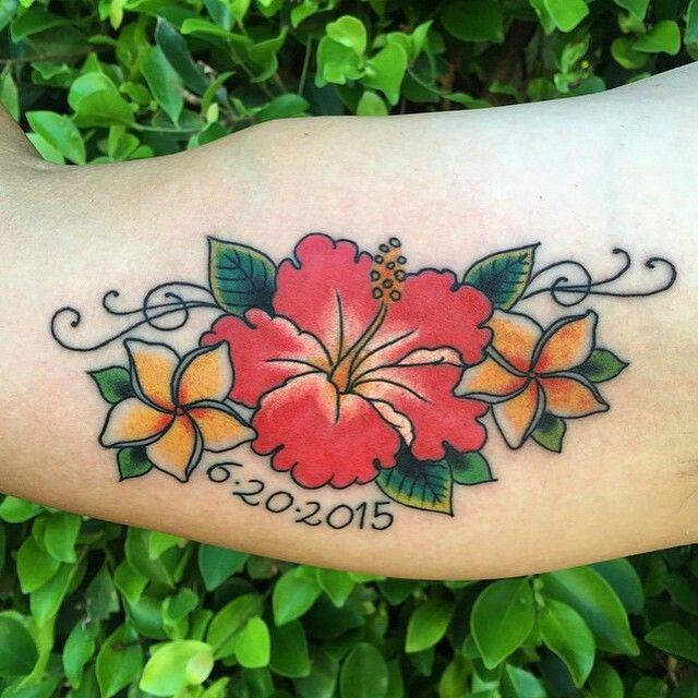 Hibiscuspuerto Rico Flower Tattoo Tattoos Pinterest Tattoos